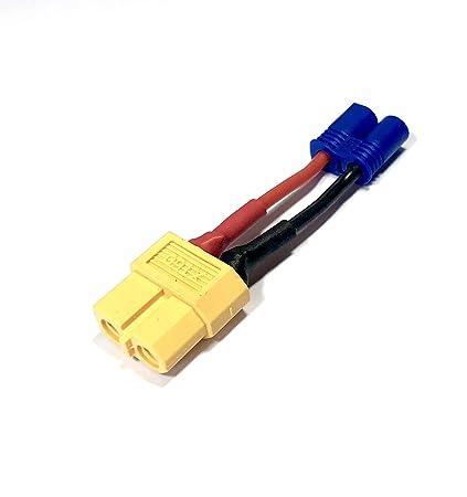 VUNIVERSUM 1x Premium Adapter XT90 Stecker Male auf XT60 Stecker M/ännlich Male 10cm 12AWG Kabel Adapterkabel Hochstrom f/ür Lipo Akku von Mr.Stecker Modellbau/®
