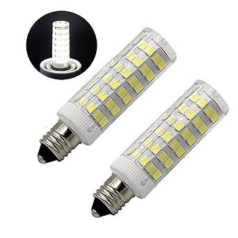 Reusious E11 Bombilla LED 5W, 60W 120v / 130v Bombillas halógenas Equivalente Mini Candelabros jd