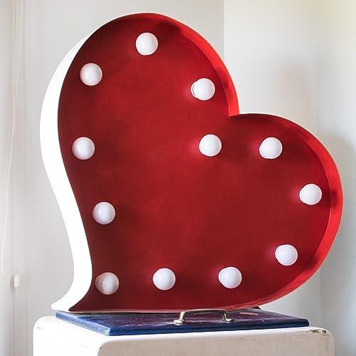 LÁMPARA CORAZÓN ILUMINADA. Personalizas los colores del corazón y el tamaño. Bombillas led incluidas