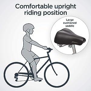 Schwinn upright seat saddle