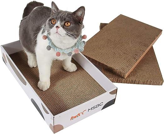 HAPPY HACHI 3 Piezas Rascador Carton para Gatos con Hierba Gatera Cama Cartón Corrugado Sofá para Gatito Doble Cara Resistente Arañazos para Gatitos Pequeños Grandes: Amazon.es: Productos para mascotas