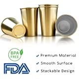 Gold Party Cups, Kereda Stainless Steel Cups 16oz