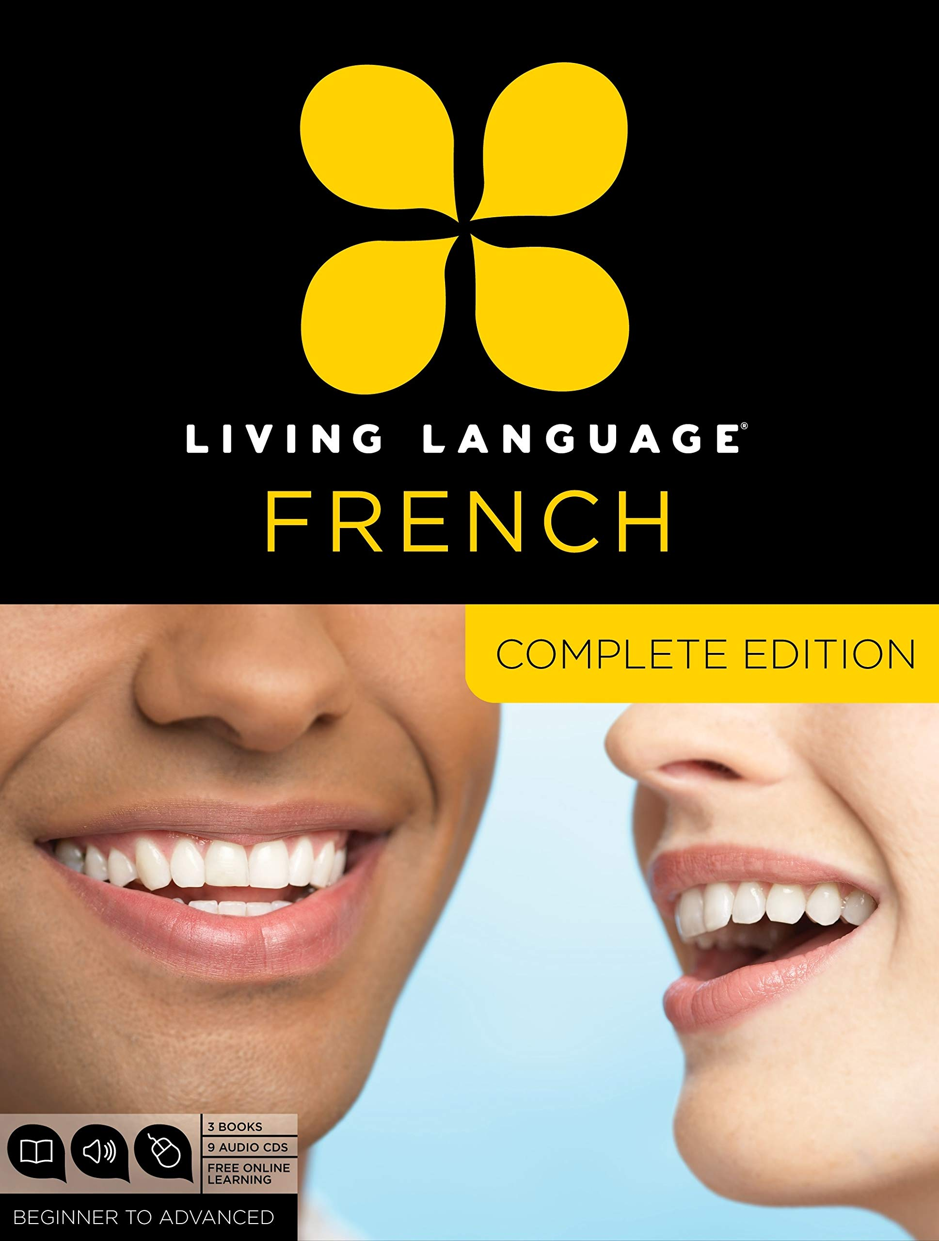 Living Language French, Complete Edition: Beginner through advanced course, including 3 coursebooks, 9 audio CDs, and free online learning by Living Language