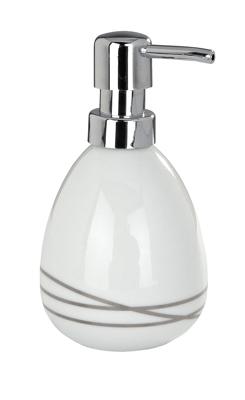 Wenko 20015100 Noa Distributeur de Savon C/éramique Blanc 15,5 x 9 x 3 cm