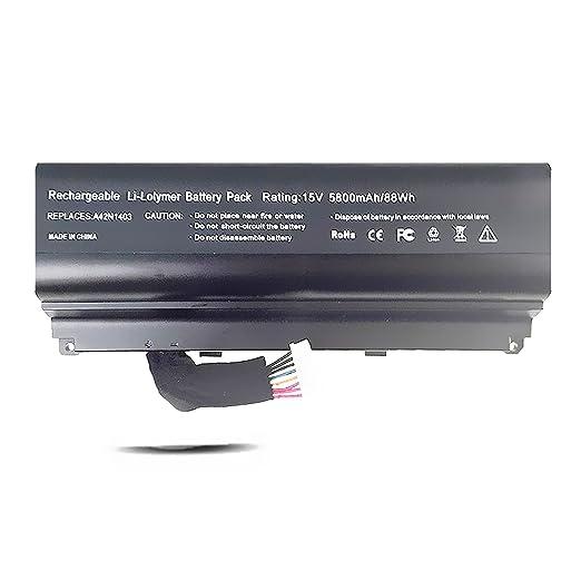 Amazon.com: A42N1403 Battery for ASUS G751JT G751JY GFX71JT4710 GFX71JT4720 GFX71JY4860 [15V 88Wh Emaks®]: Computers & Accessories
