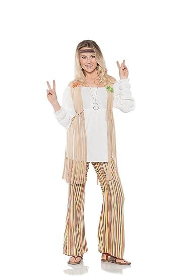 Hippie Girl Halloween Costume.Underwraps Hippie Flower Child Womens 70 S Halloween Costume