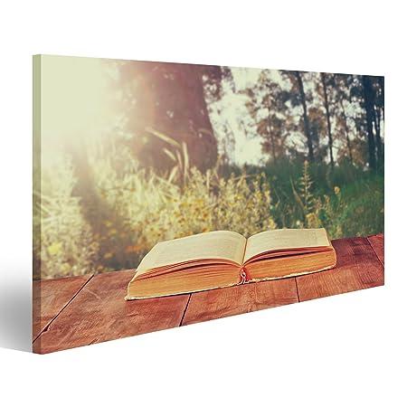 islandburner Cuadro Cuadros Libro Abierto sobre Mesa rústica de ...