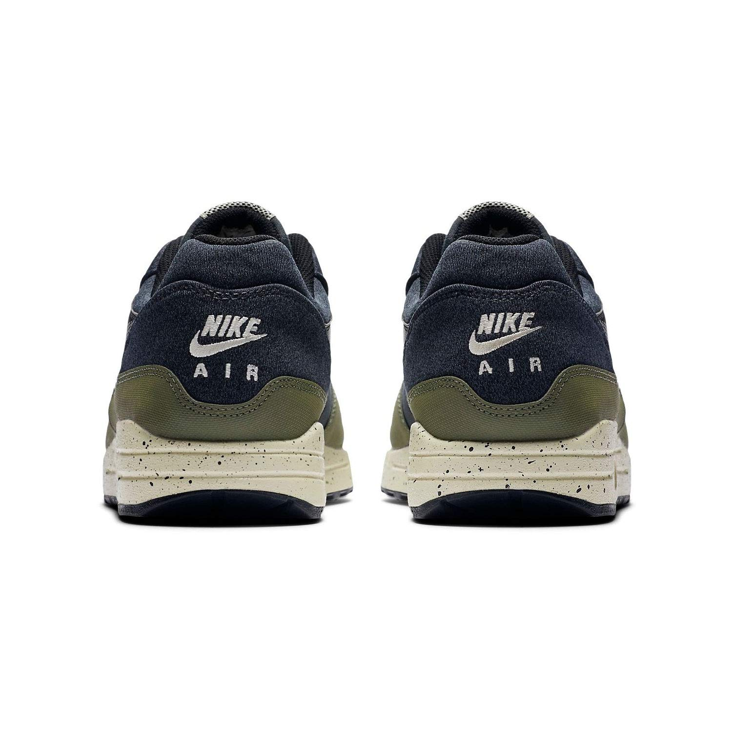new styles 17ff9 5182a Amazon.com   Nike Mens Air Max 1 SE Running Shoes Medium Olive Light  Cream Black AO1021-200 Size 9.5   Shoes