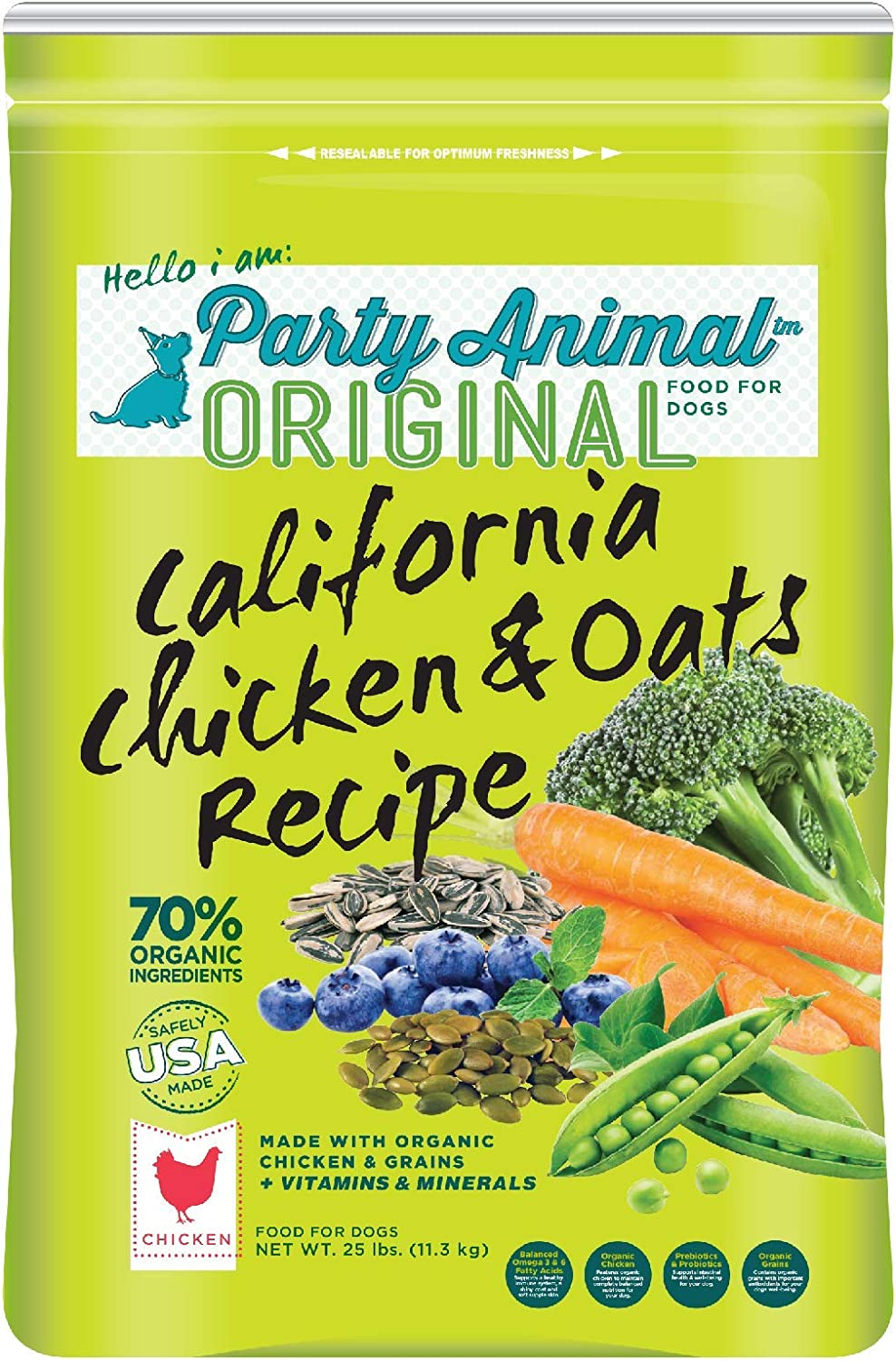 Party Animal California Chicken and Oats Recipe Dry Dog Food