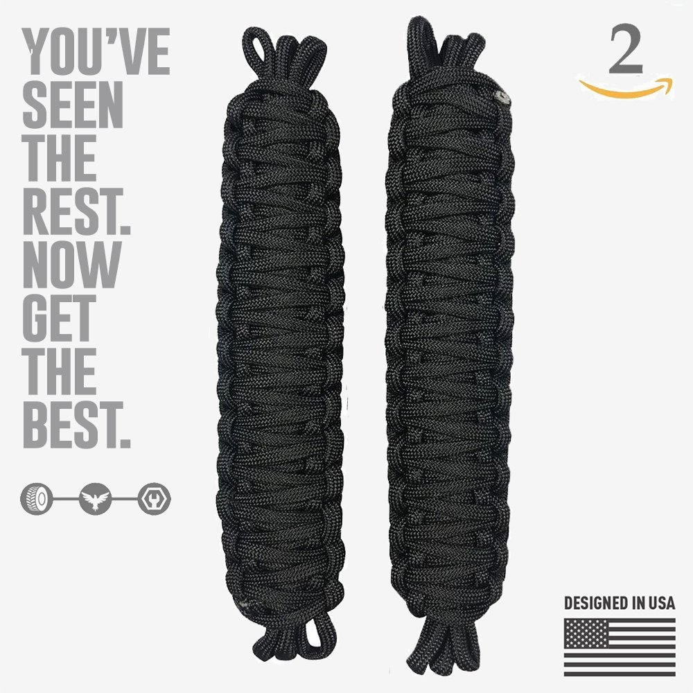 Jeep Wrangler | Paracord Door Limiting Straps CJ YJ TJ JK | 550 Pound Strength Durable Swing Limiter Restrictor Pair | 2 Pieces