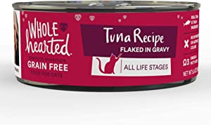 WholeHearted Grain Free Tuna Recipe Flaked in Gravy All Life Stages Wet Cat Food, 5.5 oz., Case of 12, 12 X 5.5 OZ