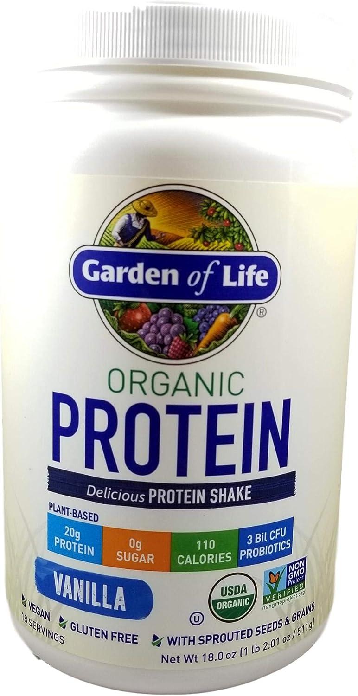 Garden of Life Organic Protein Shake Powder, Vanilla Flavor