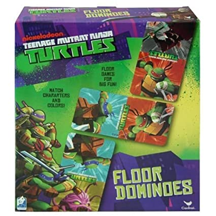 Teenage Mutant Ninja Turtles Floor Dominoes Game - TMNT 28 Piece Set