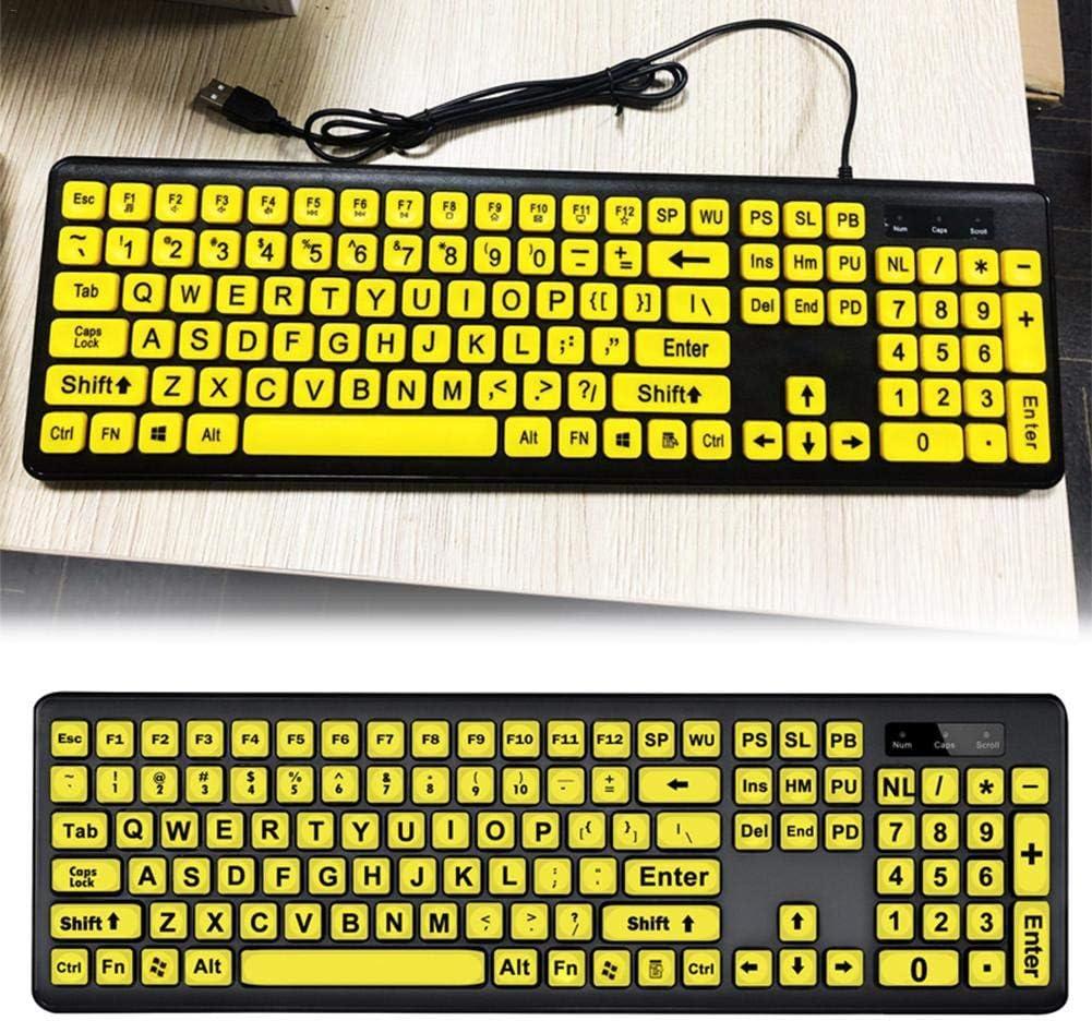 Teclado De Computadora De Impresión Grande, Teclado USB De Alto ...