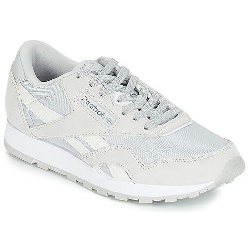 REEBOK Classic Classic Nylon J Zapatillas Moda Chicas Plata - 36 - Zapatillas Bajas: Amazon.es: Zapatos y complementos