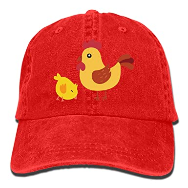 Amazon.com  Unisex Hen and Little Yellow Chicken Unstructured Cotton ... 27b77442833