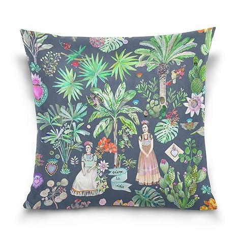 Vilico Frida Kahlo Botanics - Funda de cojín, algodón, One ...