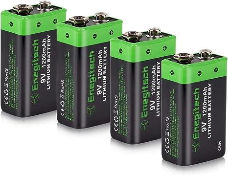 Enegitech 9v Block Battery Lithium 1200mah Photo Camera Photo
