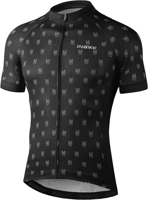 INBIKE Radtrikot Herren Kurzarm T-Shirt aus 100/% Hautfreundlich Polyester Schnelltrockend Atmungsaktiv f/ür Outdoor-Aktivit/äten Schwarz Rot Optional