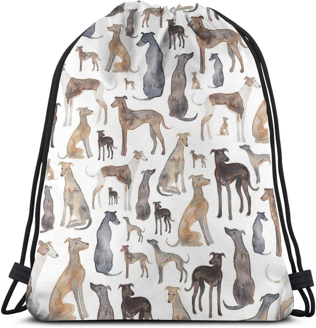 Ameok-Design Leopard Print Shoulder Drawstring Bag Backpack String Bags School Rucksack Gym Sport Bag Lightweight