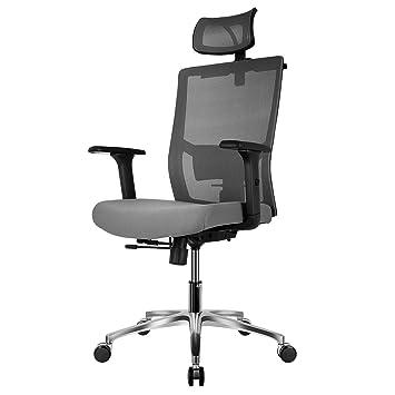 accoudoirs Maille Bureau Hauteur Patron 65 rotation appui En ° Et fauteuil Ergonomique chaise Tête ° À 360 Chaise Réglables Fixkit kwO0Pn8