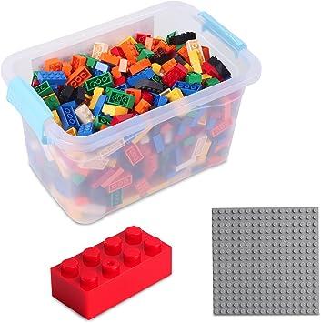 Katara Juego De 520 Ladrillos Creativos En Caja Con Placa De Construcción 100% Compatibles Con Lego Classic, Sluban, Papimax, Q-bricks, Multicolor (1827) , color/modelo surtido: Amazon.es: Juguetes y juegos