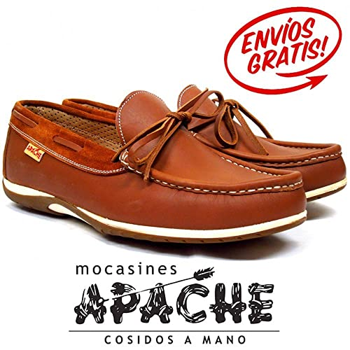 Zapato nautico con cordones Apache 474 color marron - Color - Cuero, Talla - 45: Amazon.es: Zapatos y complementos