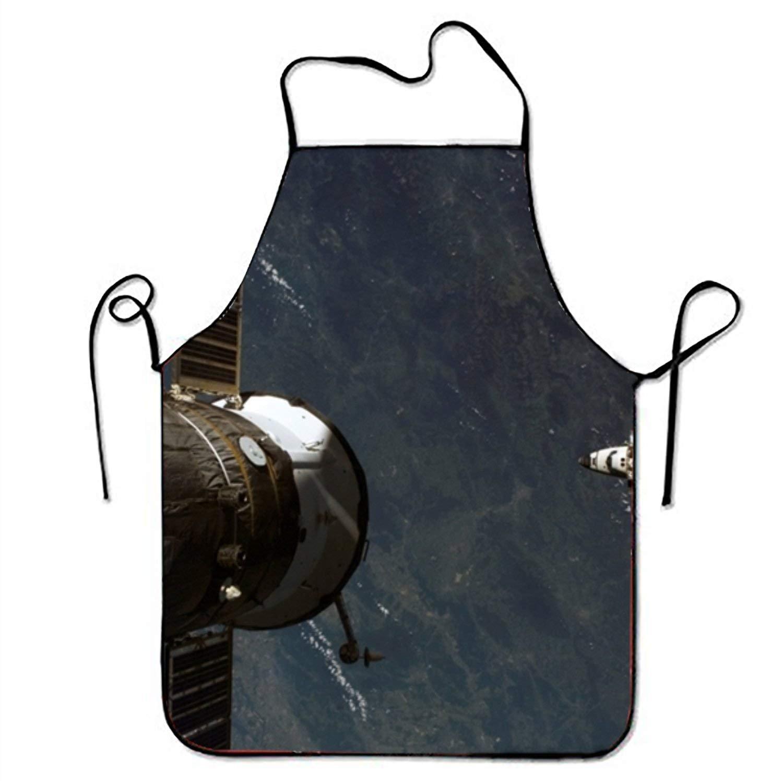Space Shuttle Atlantisキッチン料理エプロン女性と男性用調節可能なネックストラップレストランホームキッチンエプロンBib for、料理BBQ   B07FTKZL5Z