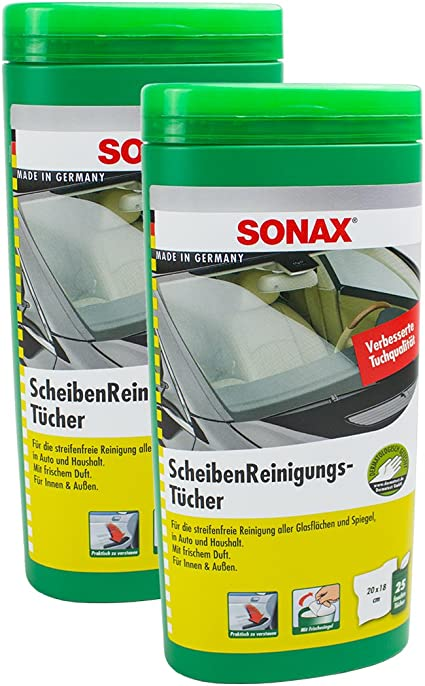 SONAX 2 x 04120000 – Toallitas Caja 25 Unidades: Amazon.es: Coche ...