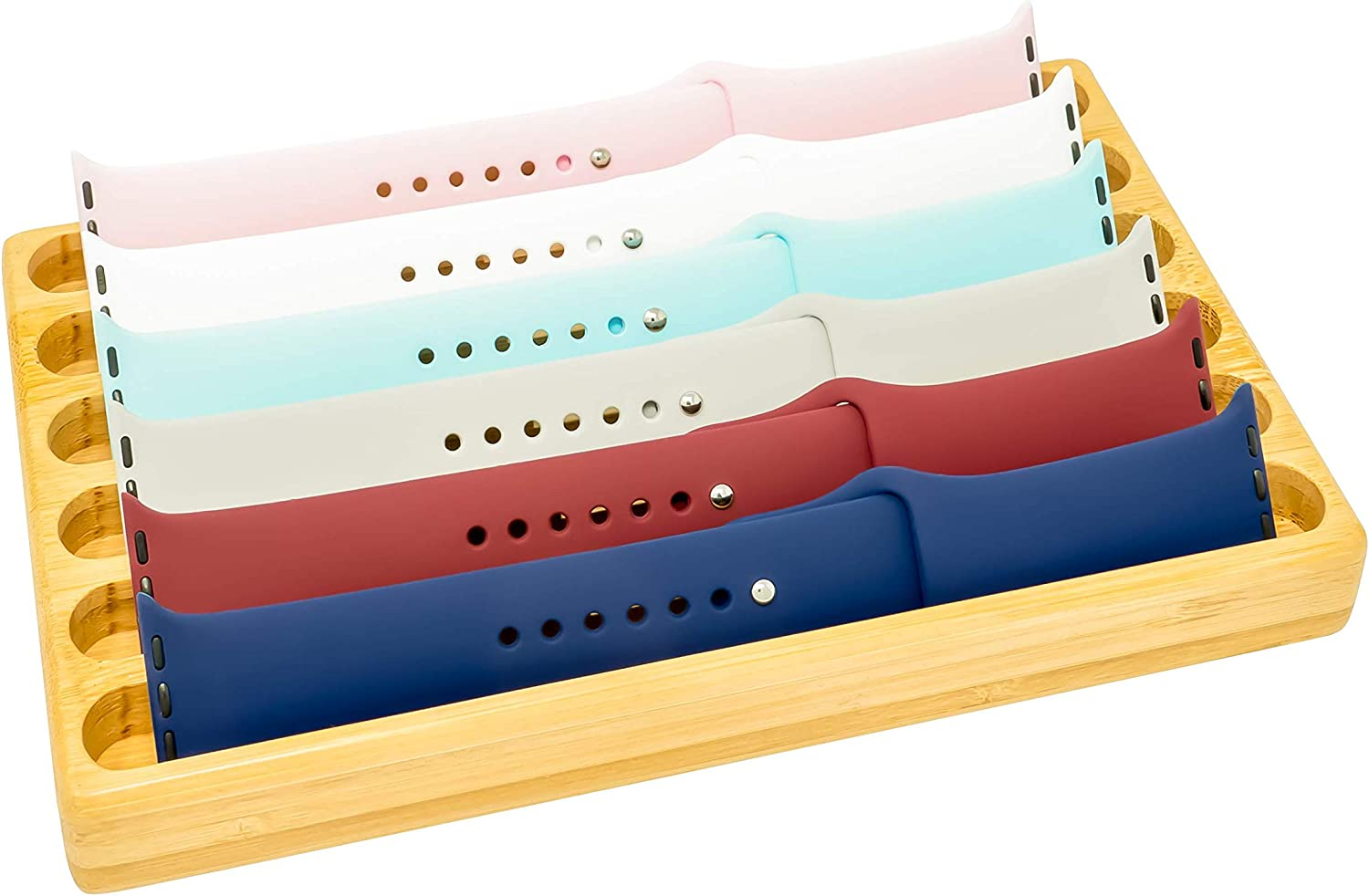 Wooden Watch Band Organizer - Works with All Apple Watch Bands - Watch Band Holder - Wooden Watch Stand Display – Birthday Gift for Her