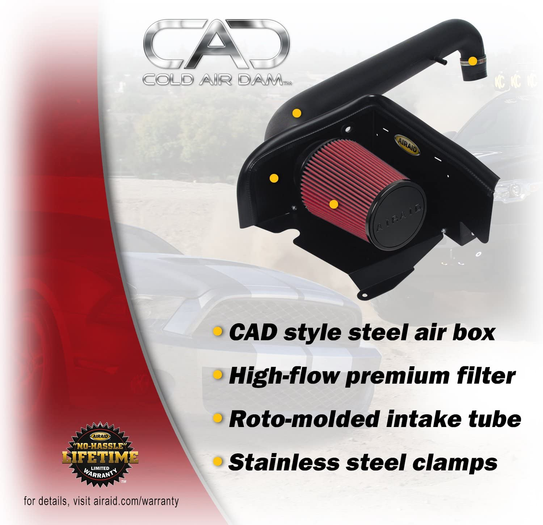 Intake Tube Kit for Silverado 1500//Tahoe//Yukon//Sierra 1500 Airaid 200-785 Jr