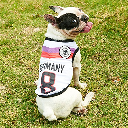 Siray World Cup FIFA Brazil National Soccer Team Pet Jersey Dogs Costume Football T-Shirt Dog Clothes