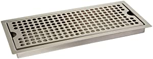 Kegco SEDP-220D Beer Drip Tray Stainless Steel Flush Mount Drip Tray w/Drain