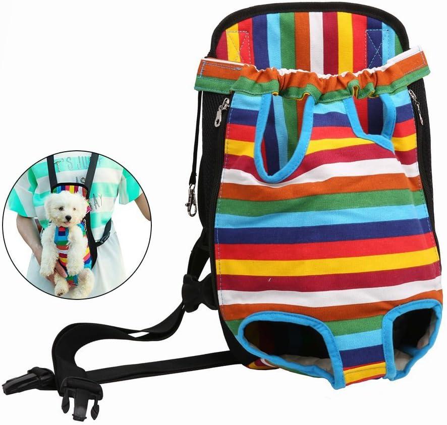 Case Wonder Mochila para Perro Y Gato - Cabeza y Piernas Fuera Portátil Adjustable Viaje Bolsa Backpack Frontal Pack de Transporte para Mascota Perro Gato y Cachorros (L)