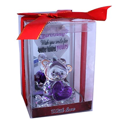 Buy Lilone Birthday Gifts Stunning Crystal Teddy Bear With Heart Attractive Showpiece 4 Inch Online At Low Prices In India