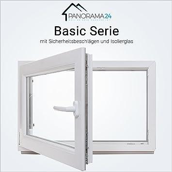 Premium wei/ß Breite: 60 cm Kunststofffenster Kippfenster Fenster Kellerfenster 2 fach Verglasung BxH: 60x65 cm