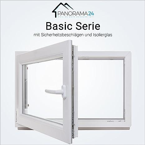 Breite: 100 cm x H/öhe: Alle Gr/ö/ßen BxH: 100x65 cm DIN Links Wei/ß Premium Dreh-Kipp-Funktion 3-fach-Verglasung Kunststofffenster Kellerfenster Fenster