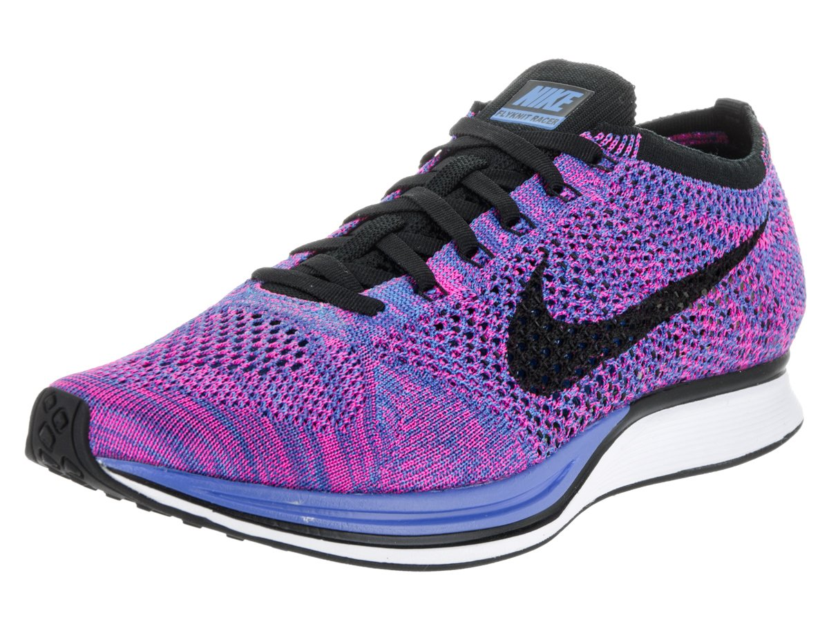 huge selection of e2fdd 3a9fa Galleon - Nike Unisex Flyknit Racer Game Royal Black Pink Flash Running  Shoe 9.5 Men US   11 Women US