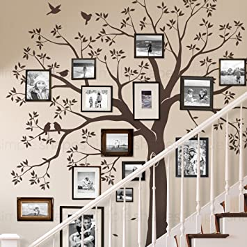 Staircase Family Tree Wall Decal Tree Wall Decal   (Chestnut Brown,  Standard Size: Part 55