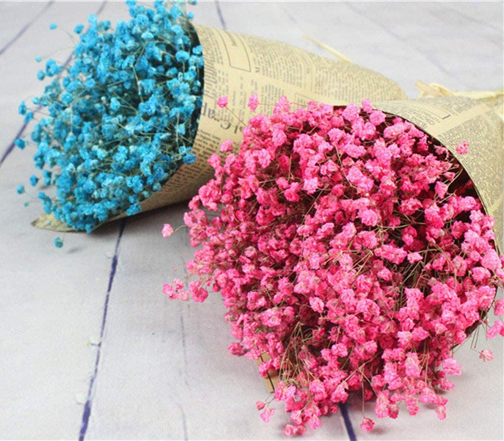 Baby/'s Breath Artificial Flowers Gypsophila Natural Dried Flower Decor Flowers for Wedding Party Church Home Decoration Blue
