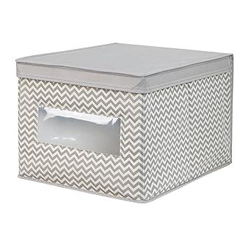 InterDesign Chevron Fabric Closet Organizer Box U2013 Soft Storage Bin For  Clothing, Shoes, Handbags