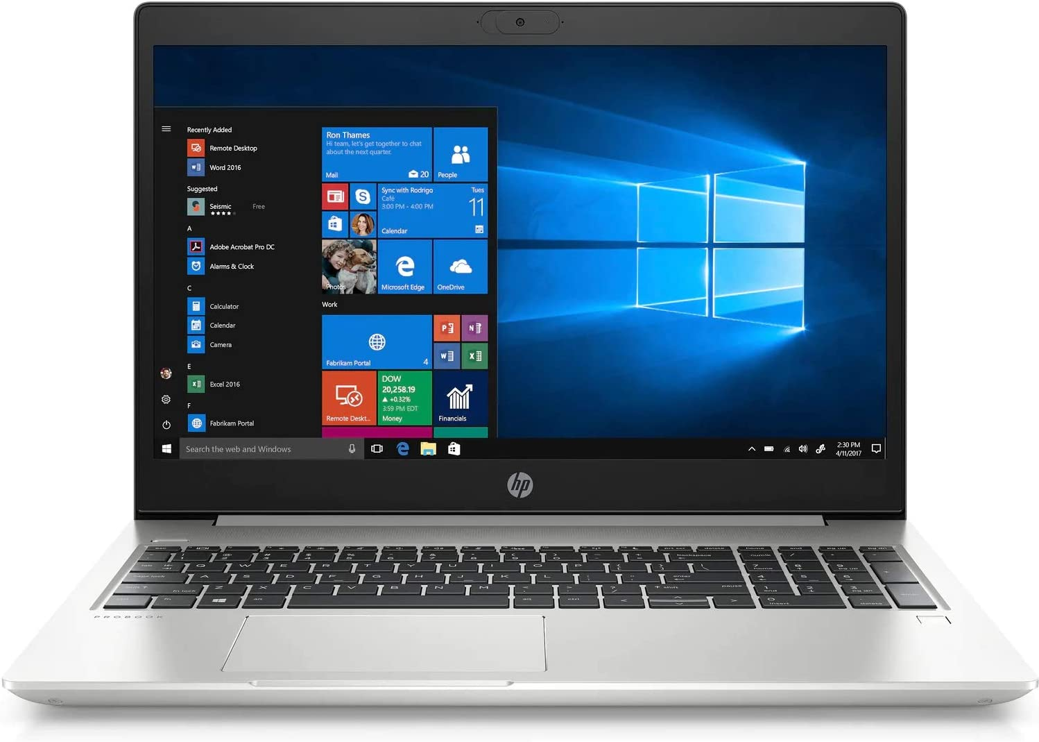 "HP ProBook 450 G7 15.6"" Notebook - 1366 x 768 - Core i5 i5-10210U - 4 GB RAM - 256 GB SSD - Pike Silver - Windows 10 Pro 64-bit - Intel UHD Graphics 620 - English Keyboard - Intel Optane Memory Ready"