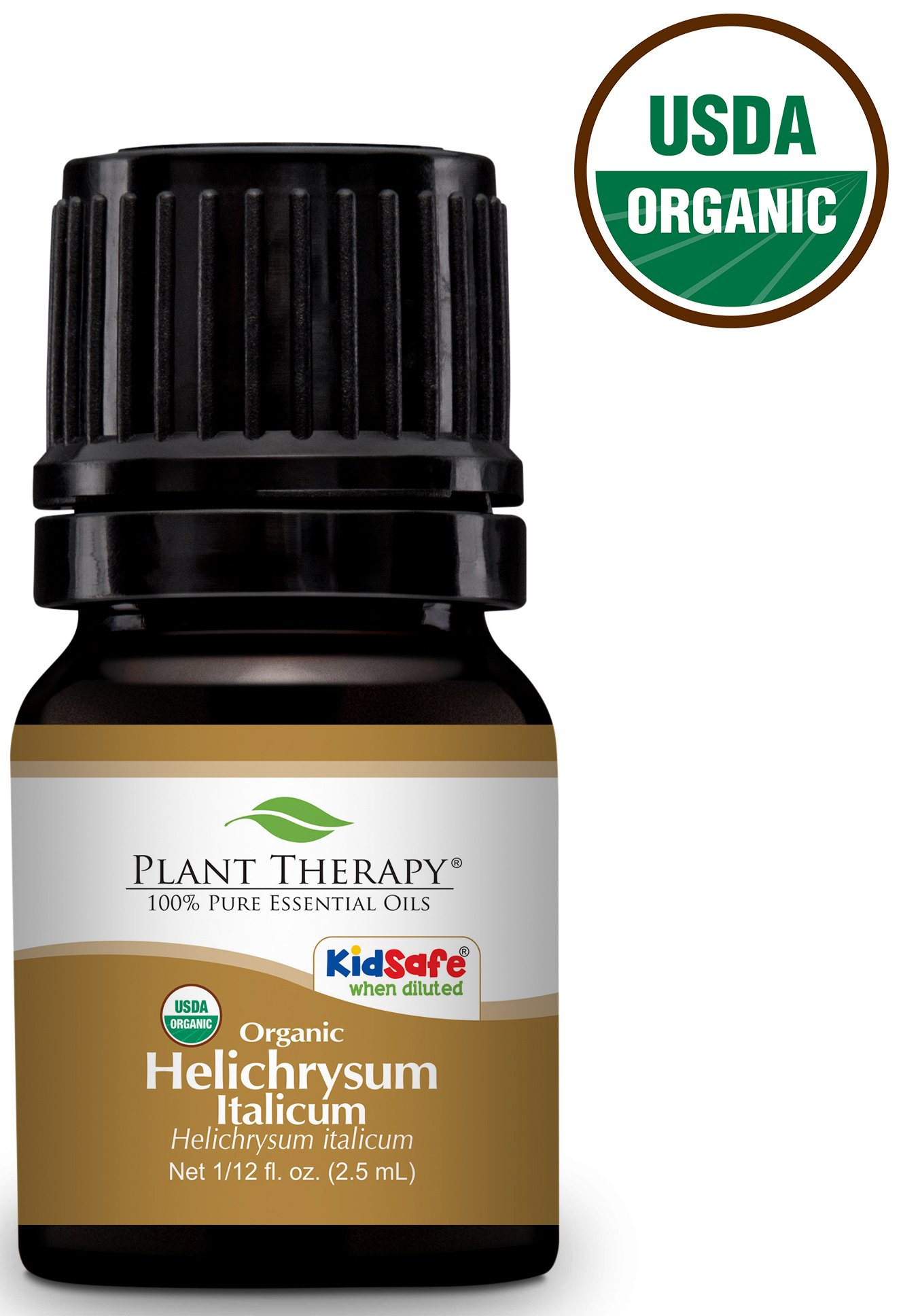 Plant Therapy Helichrysum Italicum Organic Essential Oil 2.5 mL (1/12 oz) 100% Pure, Undiluted, Therapeutic Grade