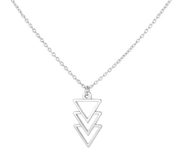 construcción racional precio moderado gran surtido ARLIZI Collar Colgante Triángulo para Mujer Plata de Ley 925 ...