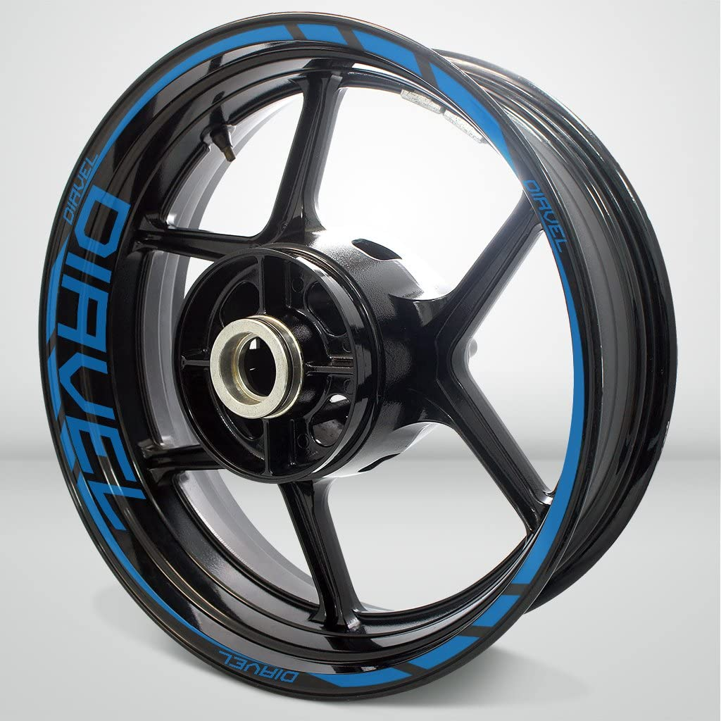 Reflective Blue Motorcycle Rim Wheel Decal Accessory Sticker For Ducati Diavel