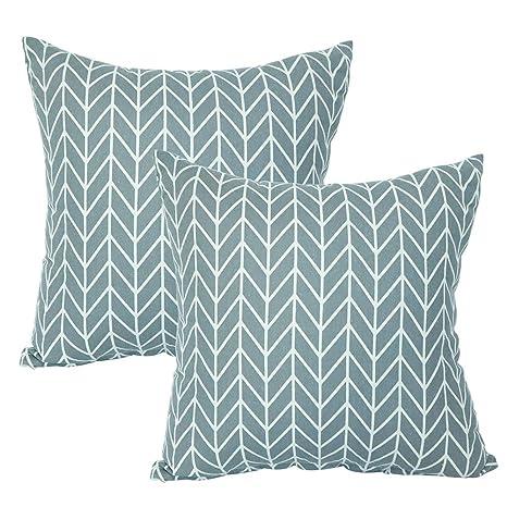 JOTOM Funda de Almohada Cuadrada geométricas para Fundas de Cojines Decorativas para el sofá del hogar