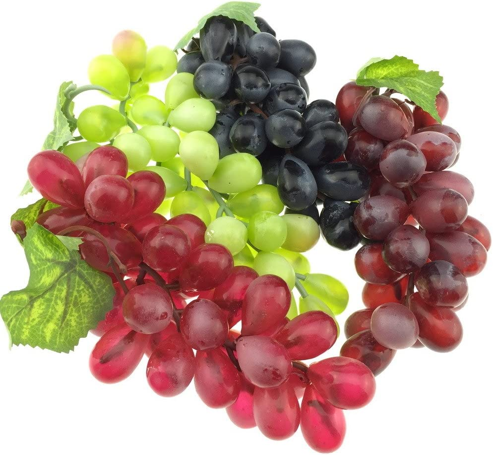 Gresorth 4pcs Artificial Lifelike Grape Cluster Fake Fruit Decoration Home Party Christmas Photography Props