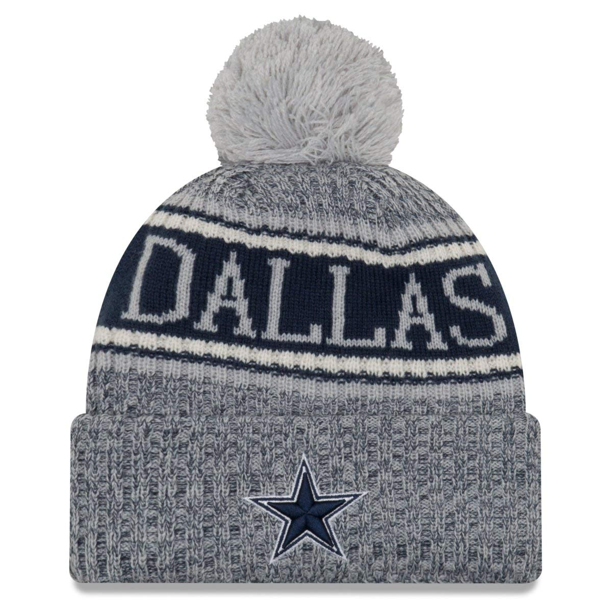 Dallas Cowboys 2018 Sport Knit Bobble Beanie Grau-Blau Farbe Grau-Blau New Era