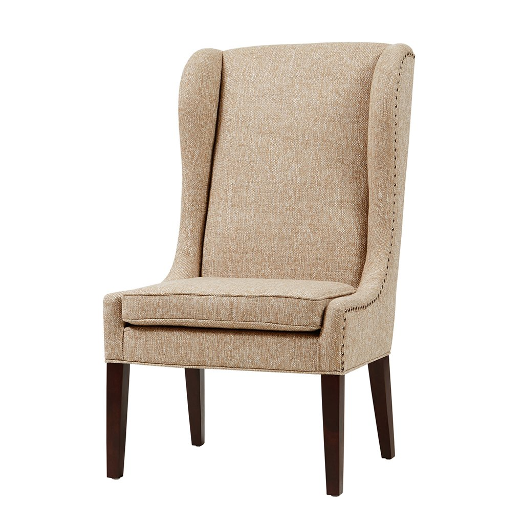 Madison Park FPF20-0278 Garbo Accent Hardwood, Brich Wood, Captain Dining-Chair Mid Century Modern Deep Seating Club Style Kitchen Room Furniture, See Below Below, Beige by Madison Park