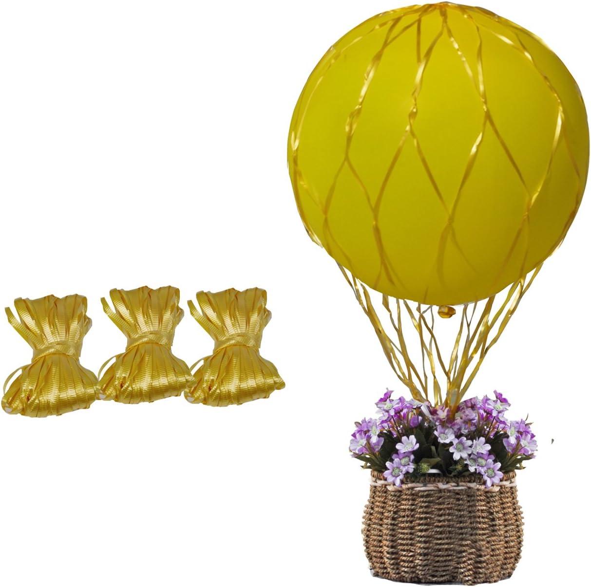 Gold Hot Air Balloon Nets Centerpiece Netting For 36 inch Balloon Centerpieces Arrangements - Pack of 3